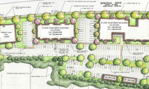 Closeup of Memorial Drive Concept Site Plan